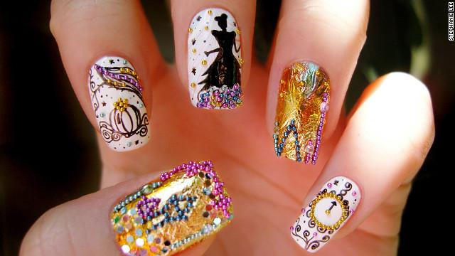 Смотреть нарощенных ногтей с рисунками