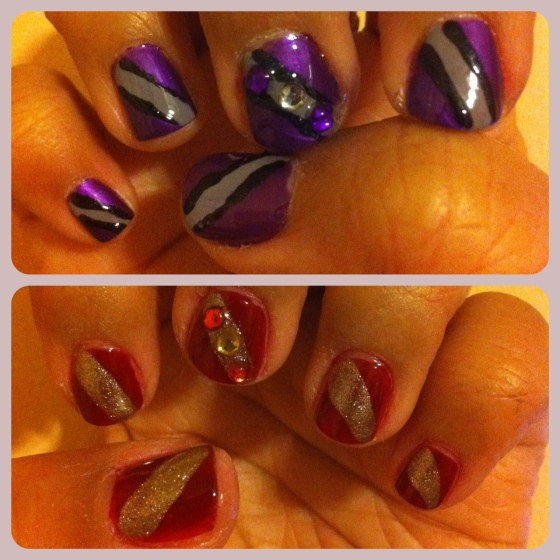 Superbowl nails