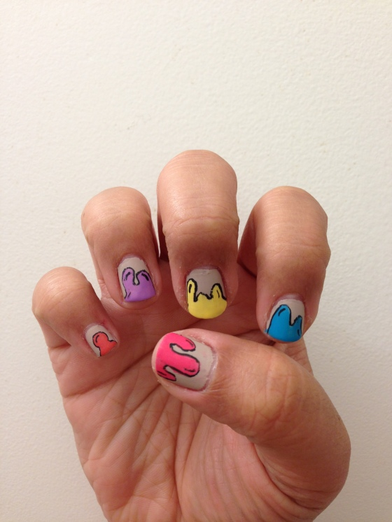 painted nail art