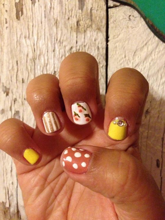 shabbychic nails